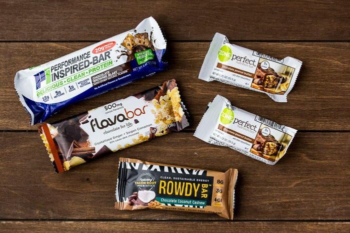 5 Different Snack Bars