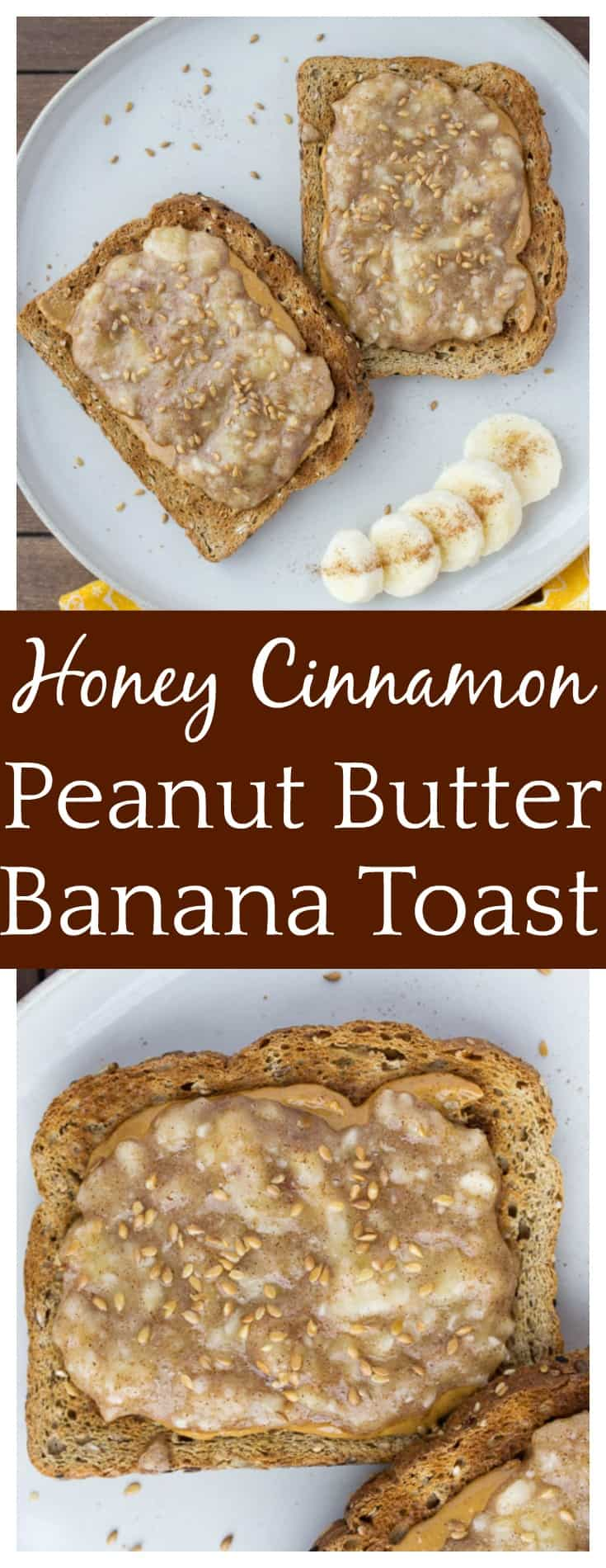 Start your morning off right with this easy recipe for Honey Cinnamon Peanut Butter Banana Toast! It's super delicious breakfast recipe that will keep you full for hours! | #bananabread #bananatoast #breakfast #easyrecipe #dlbrecipes