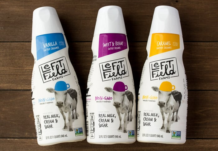 3 Bottles of Left Field Farms Coffee Creamer