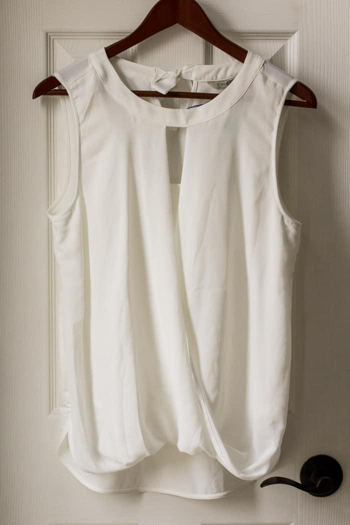 41 Hawthorn Mixed Material Blouse in White (referral link - waives first styling fee)
