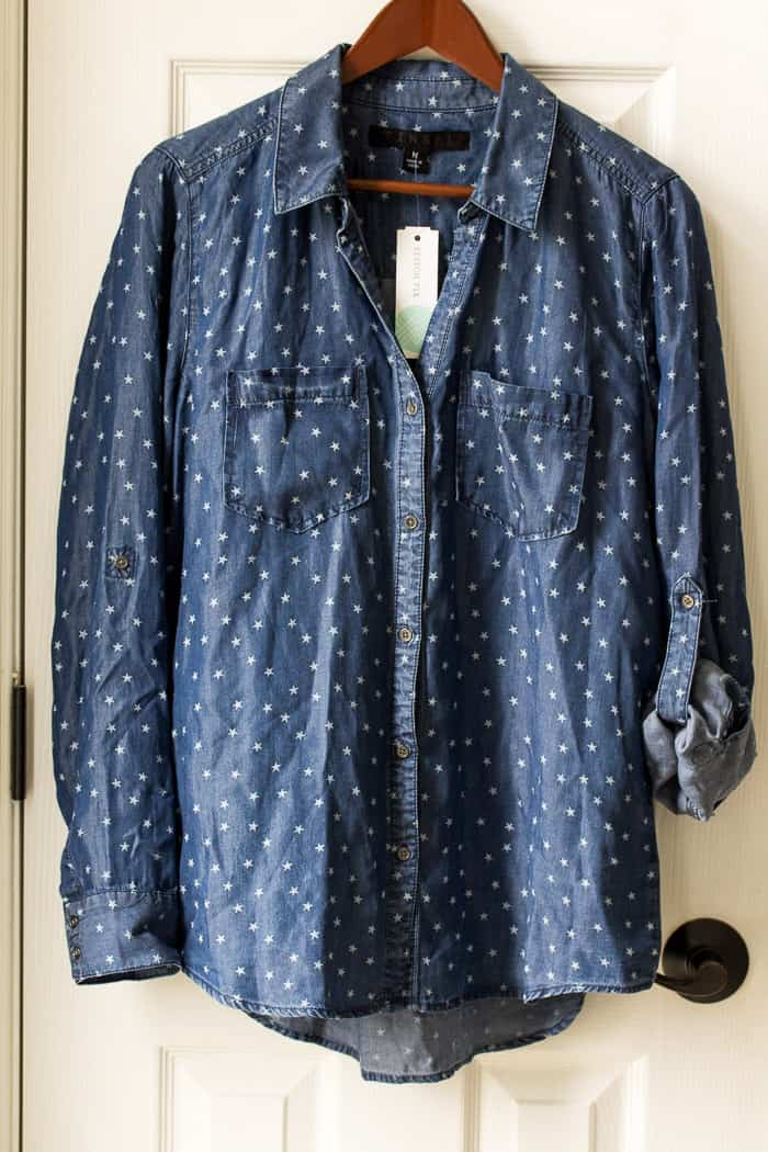 Stitch Fix Floid Chambray Shirt (referral link - waives first styling fee)