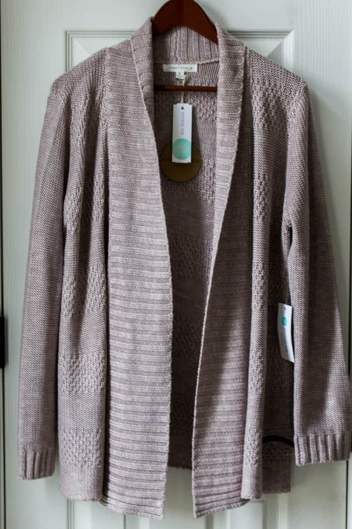 Stitch Fix Honey Punch Rivington Textured Open Cardigan in Blush (referral link - waives first styling fee)