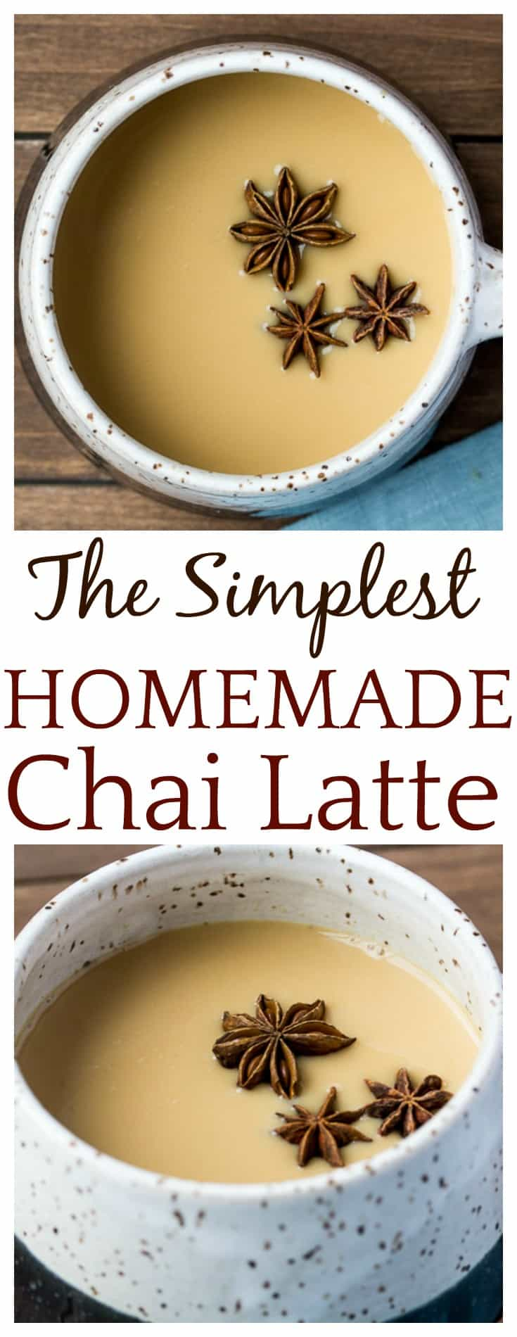 "After spending a bit too much money on fancy coffee house chai tea latte, a little ""what if"" led to the creation of this super simple Homemade Chai Tea Latte! Save time and money with this easy hack to make them yourself anytime you want! #homemade #chaitea #chaitealatte #homemadechaitea #easyrecipes #dlbrecipes"