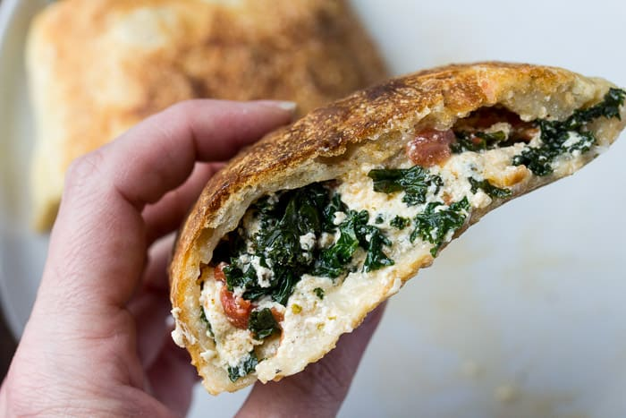Blue Apron Three Cheese Calzones Close Up