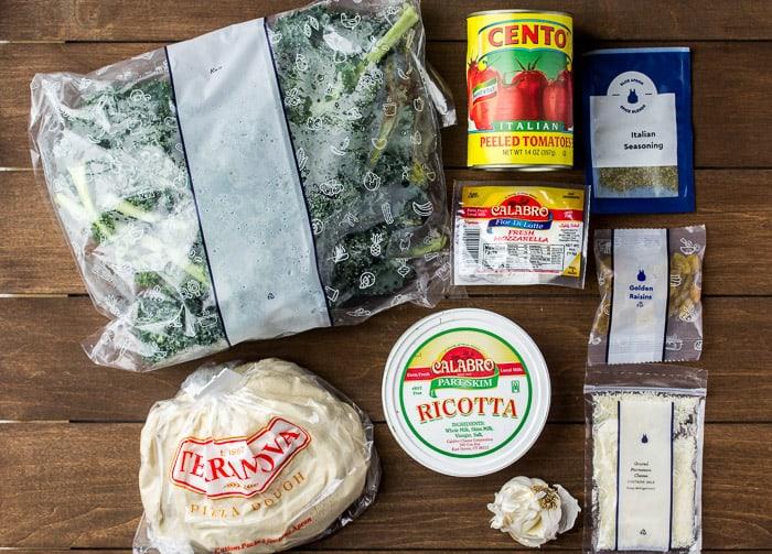 Blue Apron Three Cheese Calzones Ingredients