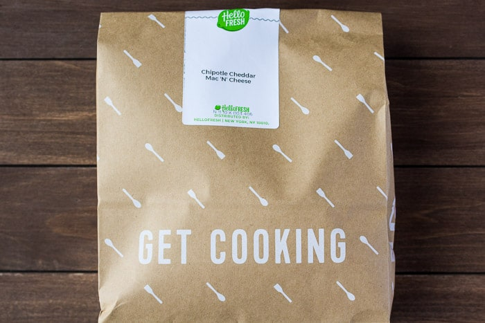 A Hello Fresh Meal Bag