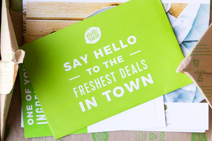 Inside the Hello Fresh Box