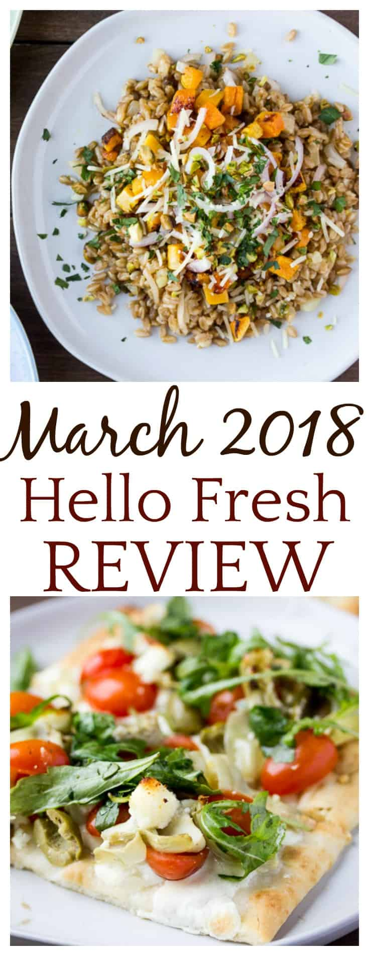 In this March 2018 Hello Fresh Review, things didn't go quite as planned, but the food was delicious! I ordered 3 vegetarian meals for this review. | Vegetarian Hello Fresh Review | #hellofresh #hellofreshreview #vegetarian #vegetarianhellofresh #hellofreshmeals