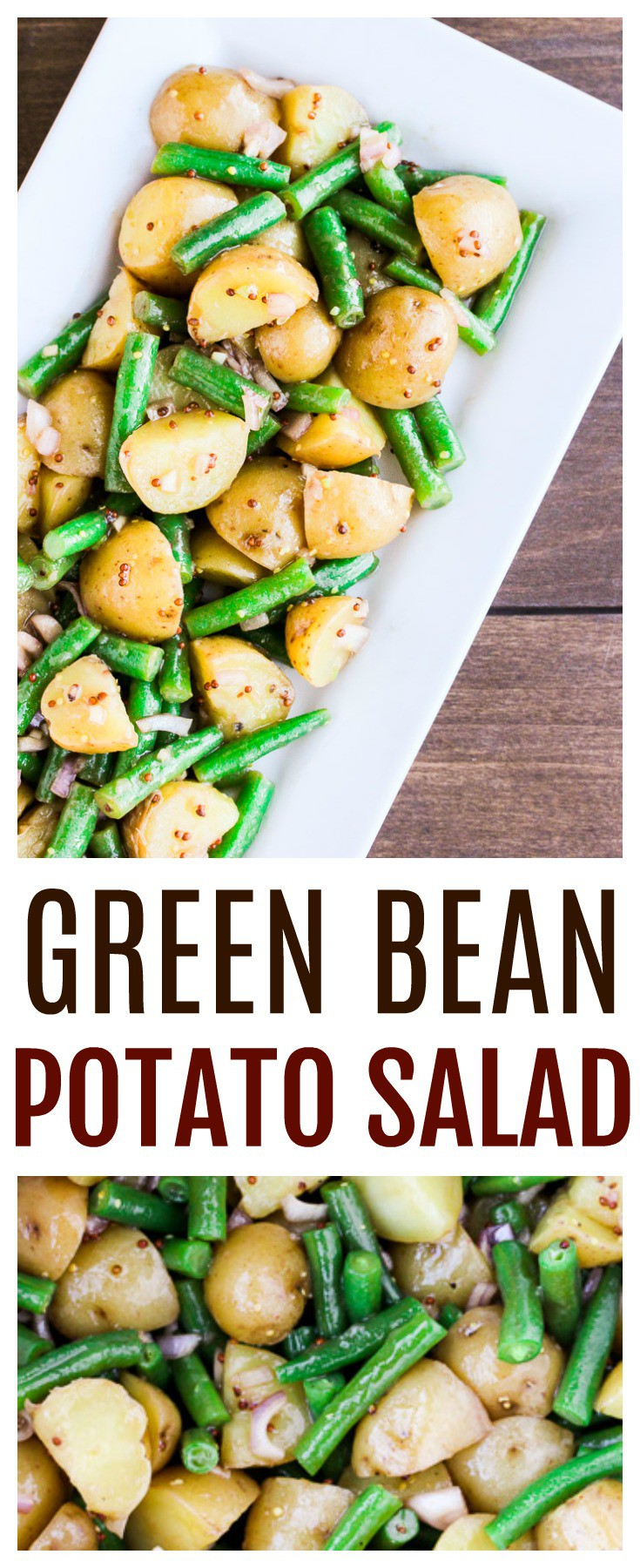 Green Bean Potato Salad is a delicious Summer side dish recipe that can be served warm or chilled! The zesty dressing really pulls everything together! | barbecue | cookout | gluten free | #dlbrecipes #potatosalad #greenbeansalad #sidedish #glutenfree