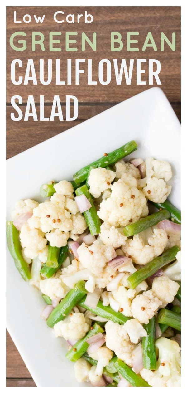 This Low Carb Green Bean Salad is a great side dish recipe for spring and summer cookouts and barbecues! It's suitable for those on a keto and/or gluten free diet as well!   #dlbrecipes #greenbeansalad #lowcarb #glutenfree #sidedish