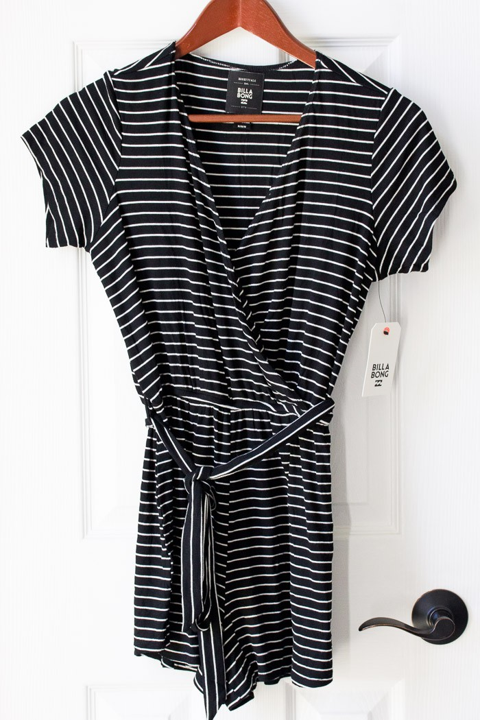 Trunk Club Billabong Romp Stomp Stripe Surplice Romper