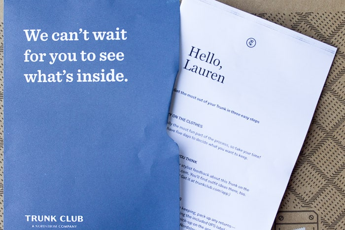 Trunk Club Papers and Note