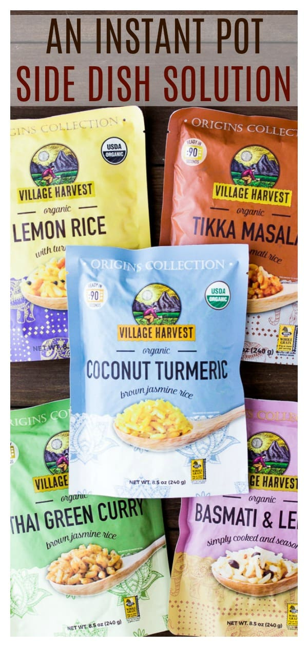 These Village Harvest Origin Collections rice dishes are a great side dish to Instant Pot Meals! They can be made in just 90 seconds in the microwave and come in 5 amazing flavors! | @VIllageHarvest #ad #VHOrigins #instantpotsidedish #sidedish #rice | https://www.pinterest.com/villageharvest/