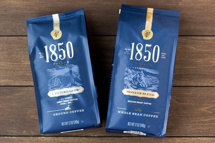 1850 Brand Coffee in Lantern Glow and Pioneer Blend