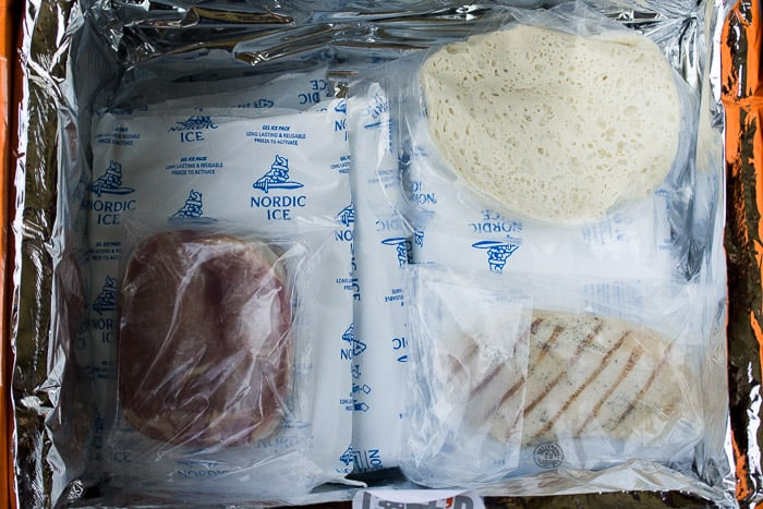 Proteins and Ice Packs Inside the Chef'd Box