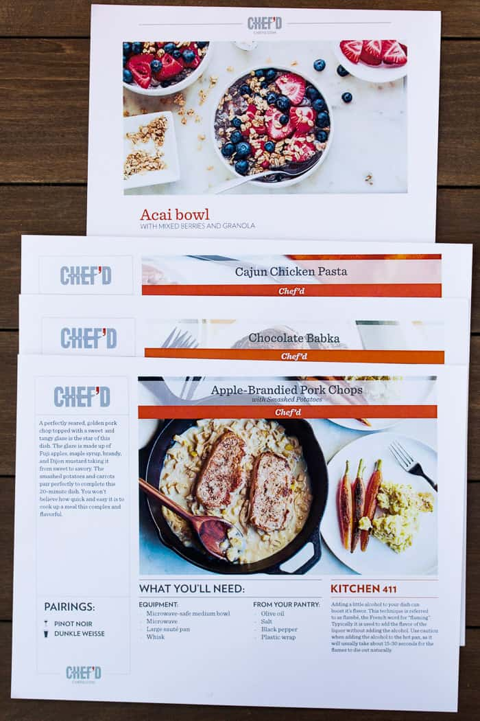 4 Chef'd Recipe Cards