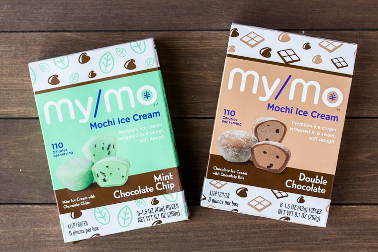 My/Mo Mochi Ice Cream in Mint Chocolate Chip and Double Chocolate Flavors