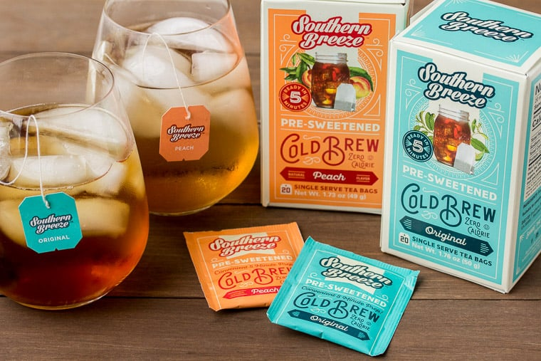 Southern Breeze Ice Tea Boxes with 2 Glasses of Tea