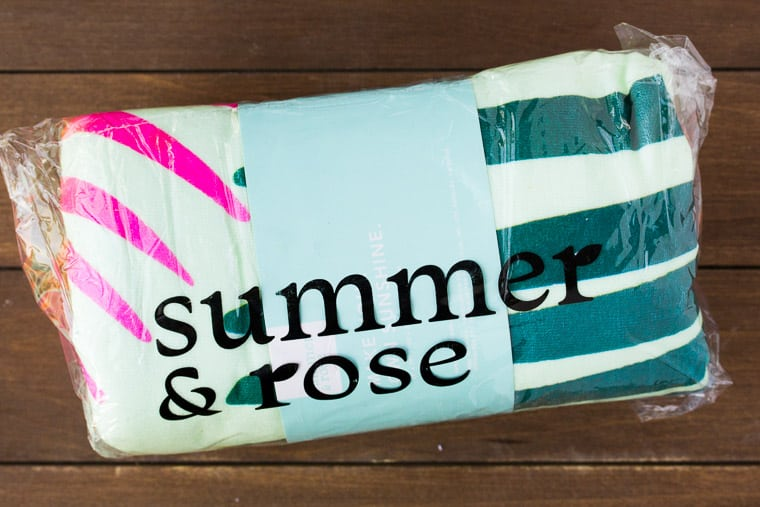 Summer & Rose Beach Towel Design 2 in Packaging