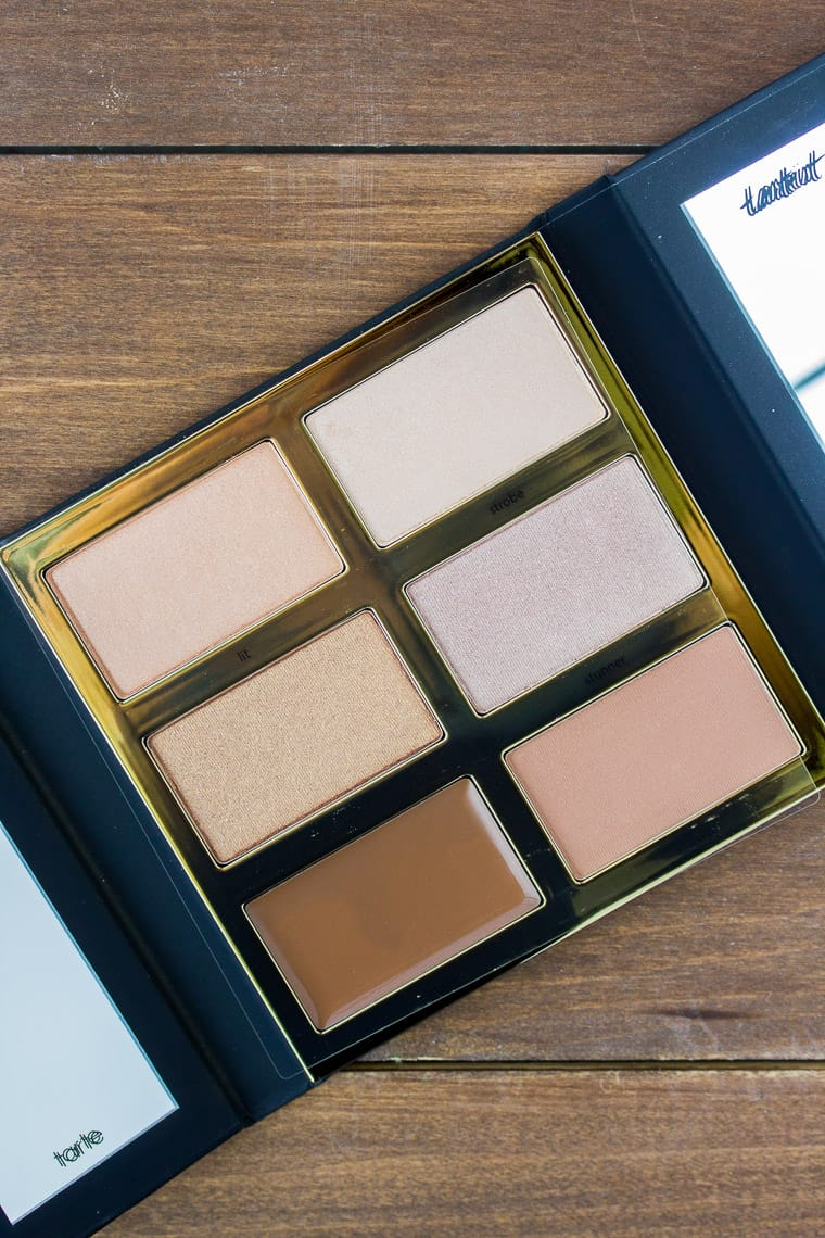Tarte Tarteist PRO Glow Highlight & Contour Palette Opened to Show 6 Shades