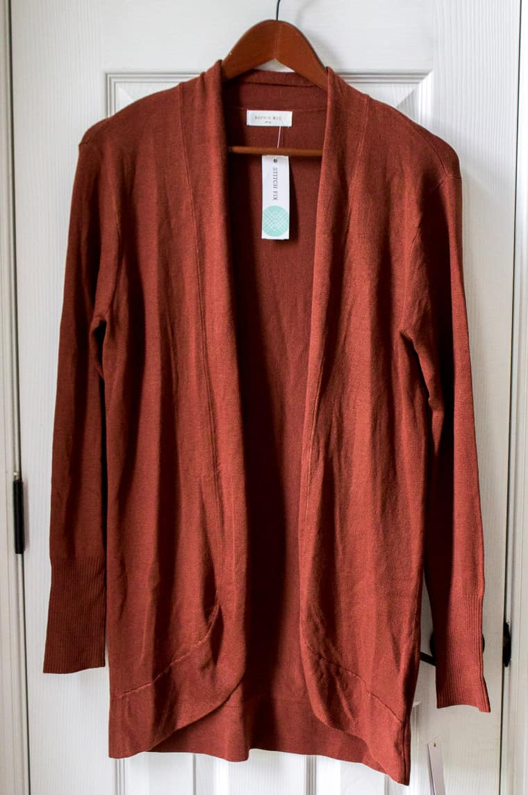 Sophie Rue Abrielle Lightweight Cardigan from Stitch Fix Fall 2018 | #stitchfixreview #fall2018stitchfix #fallclothing #cardigan #fashion