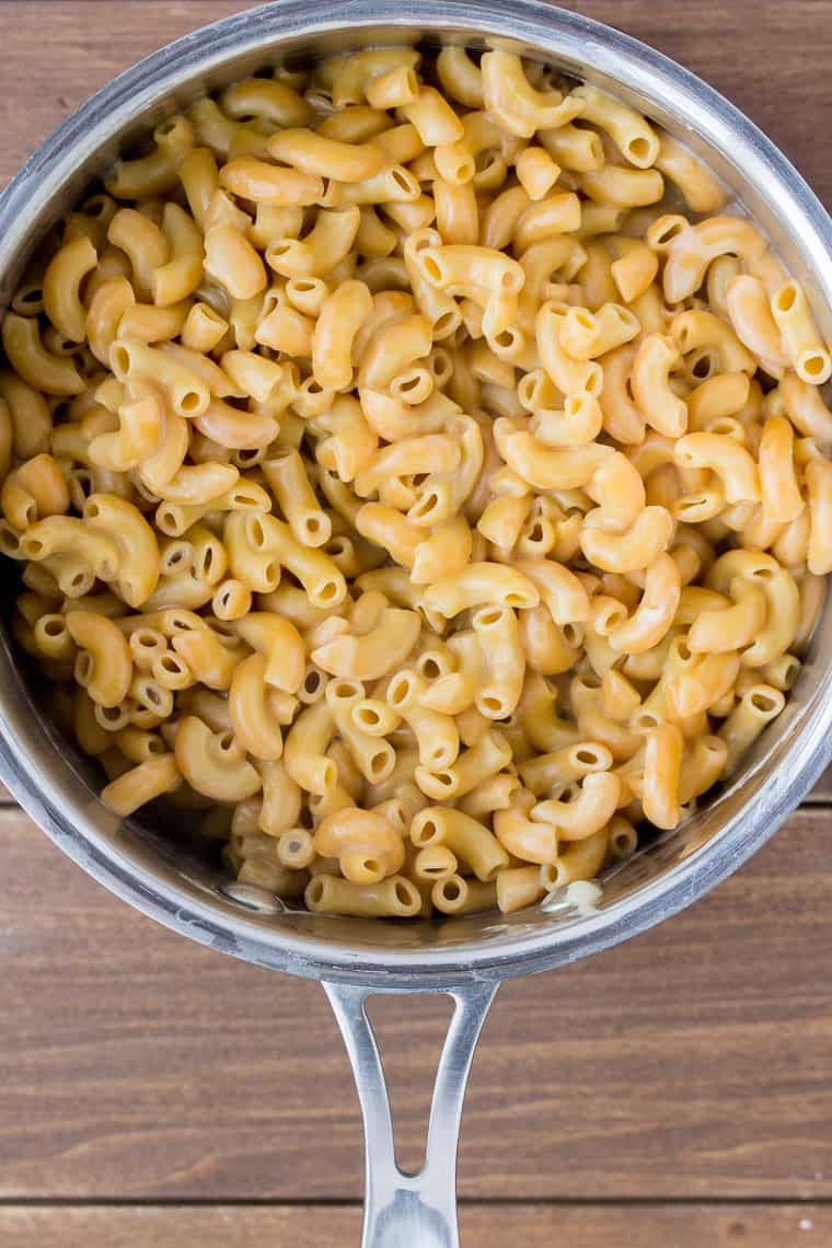 Cooked Pasta in a Silver Saucepan