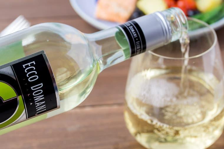 Pouring a Glass of Ecco Domani Pinot Grigio