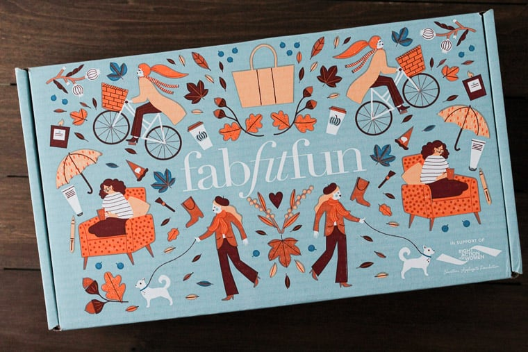 Fall 2018 FabFitFun Review Box on a Wood Backdrop