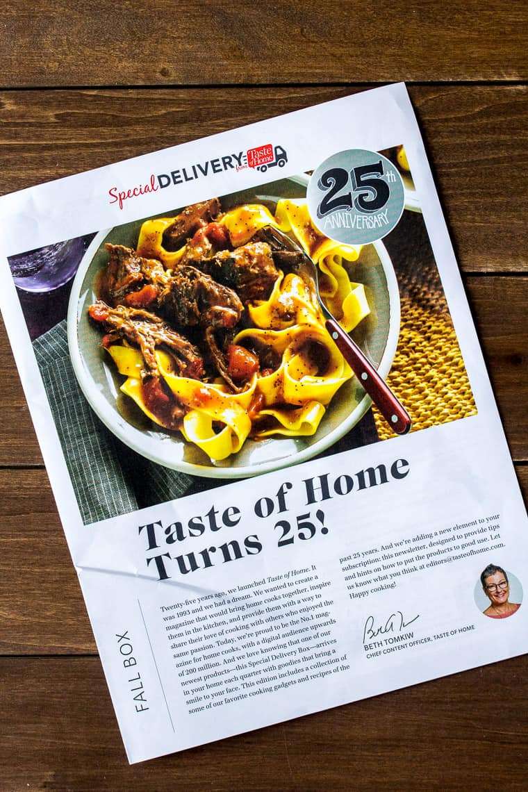 Fall 2018 Taste of Home Special Delivery Pamphlet
