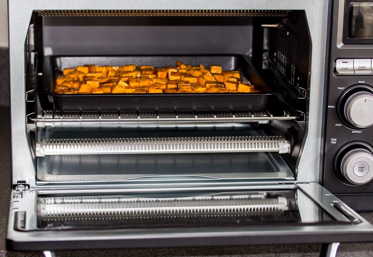 Butternut Squash inside the Toaster Oven