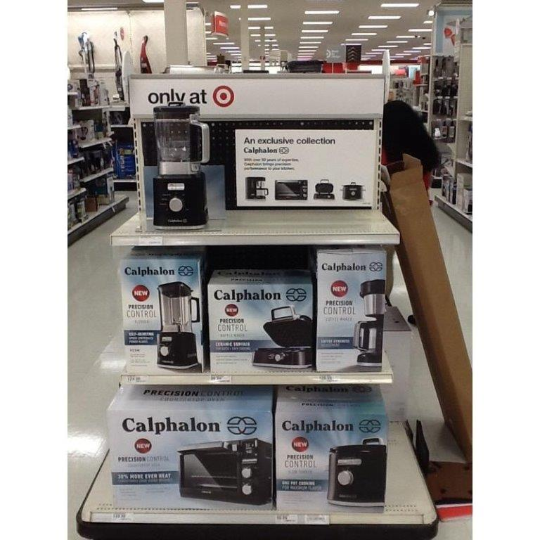 In-store image of Calphalon products at Target