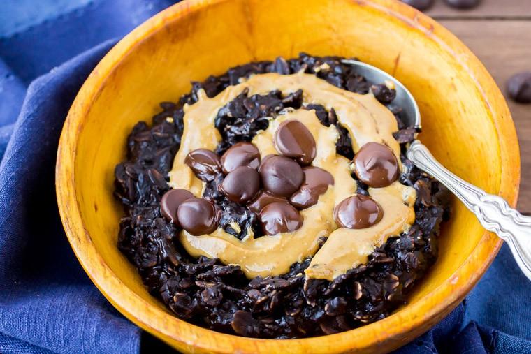 Dark Chocolate Peanut Butter Oatmeal