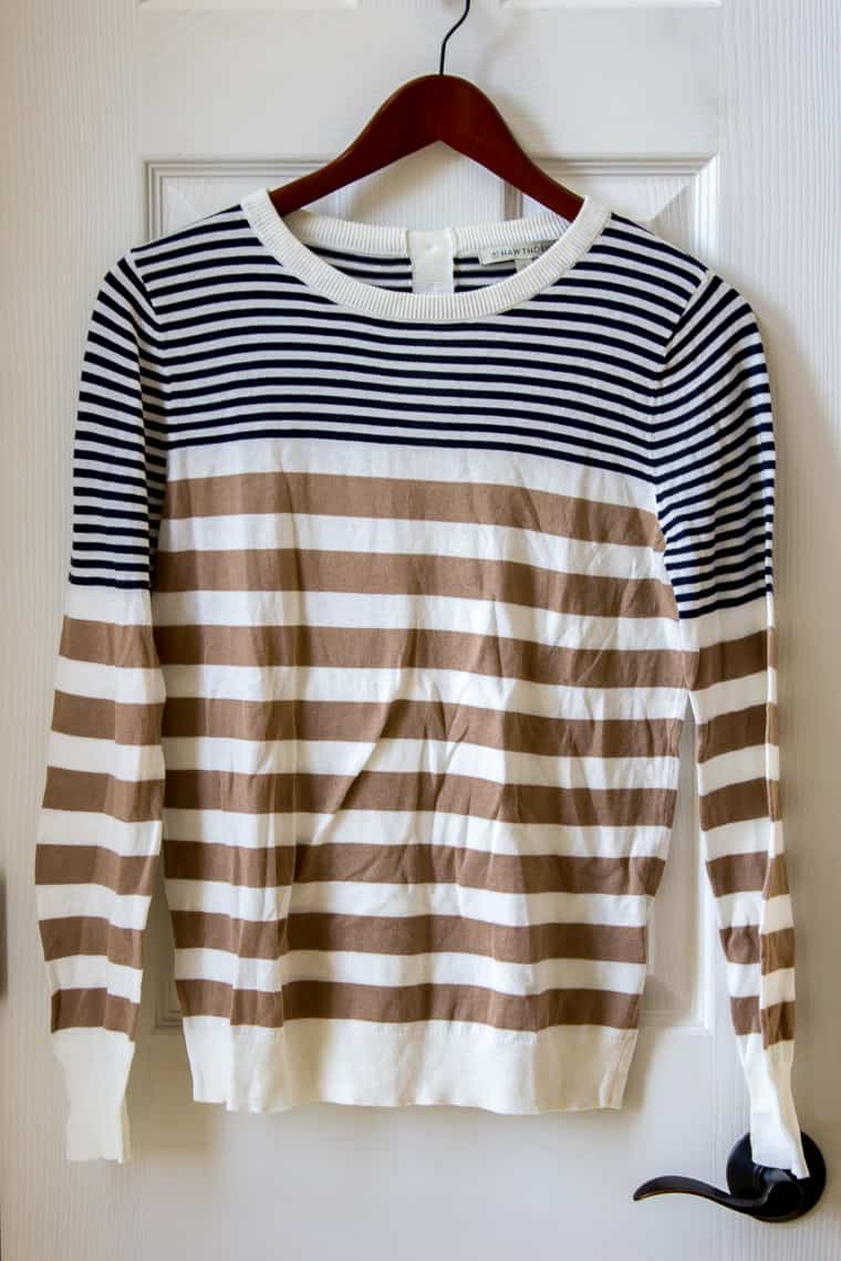 Stitch Fix 41 Hawthorn Liss Button Back Striped Cotton Blend Pullover | #affiliate #stitchfix #fashion