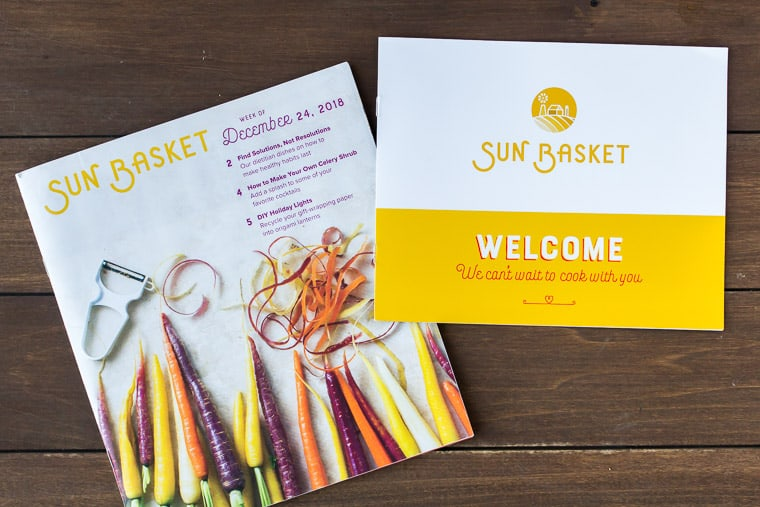 Sun Basket Welcome Booklet and Recipe Booklet