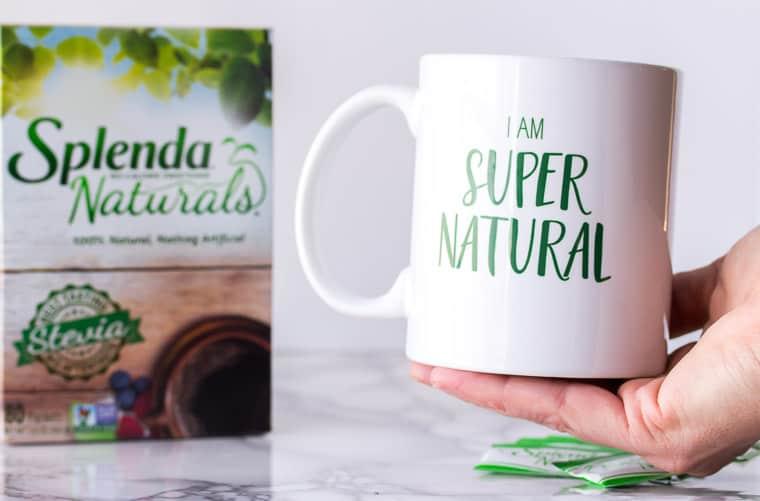 Splenda Naturals Box and Mug That Says I Am Super Natural