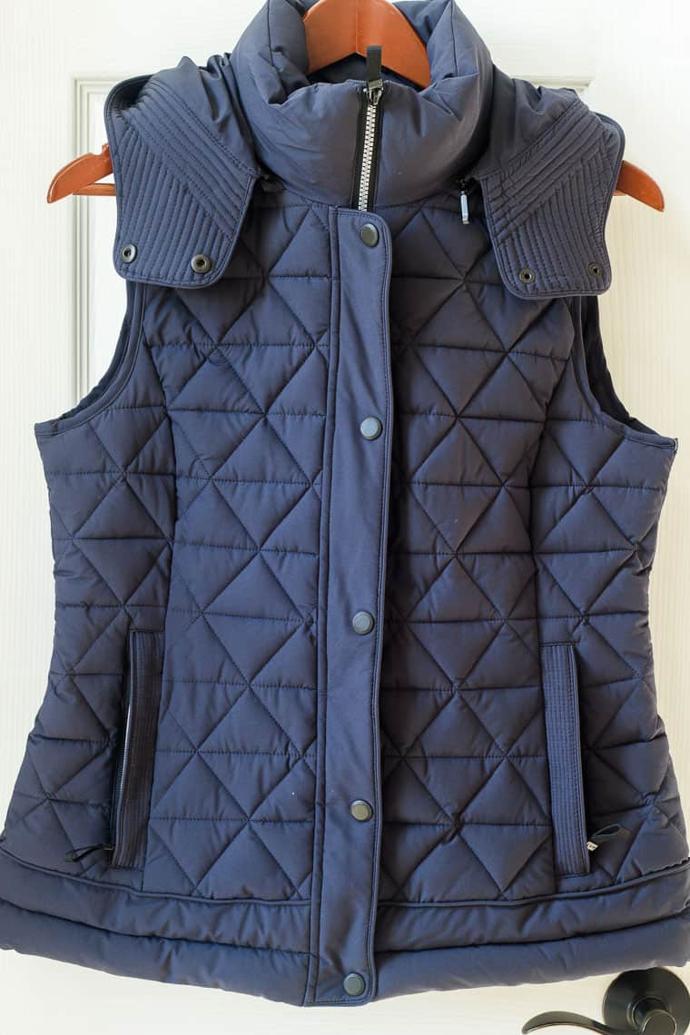 Stitch Fix Marc New York Skien Quilted Puffer Vest on a hanger with a white background | #ad #stitchfix #stitchfixwinter #stitchfix2019