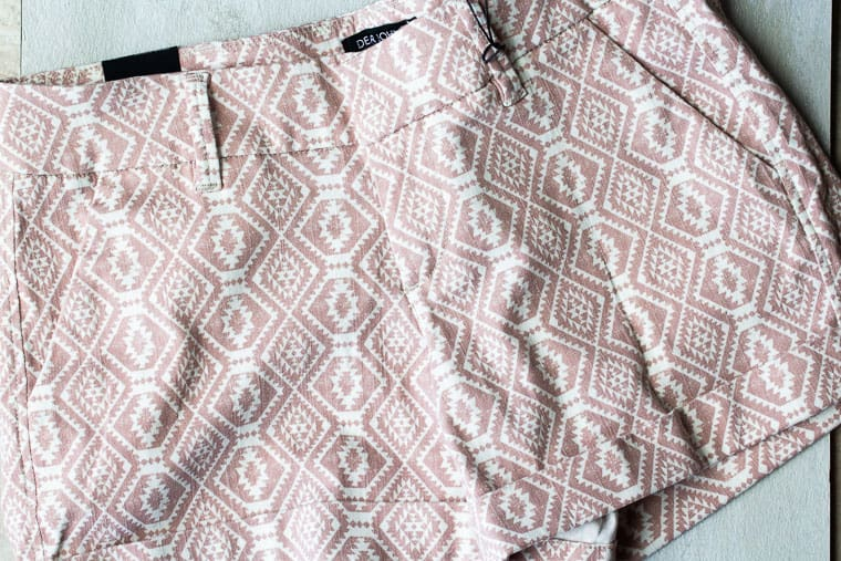 Light pink, printed Dear John Finnegan Printed Short