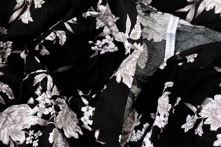Close up of the Spiritual Gangsta Maya Kimono from FabFitFun