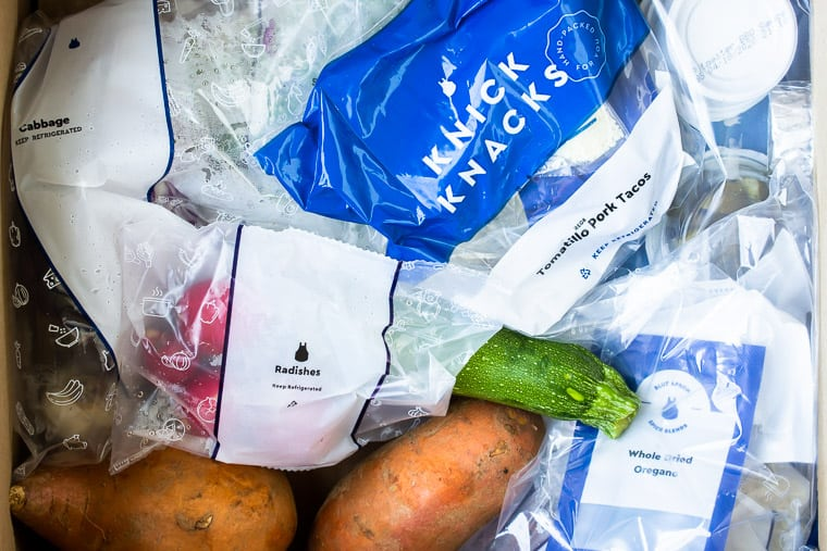 Blue Apron Ingredients packaging in the box