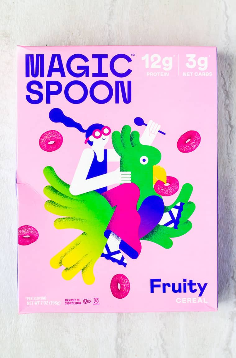 Magic Spoon cereal box on a white background