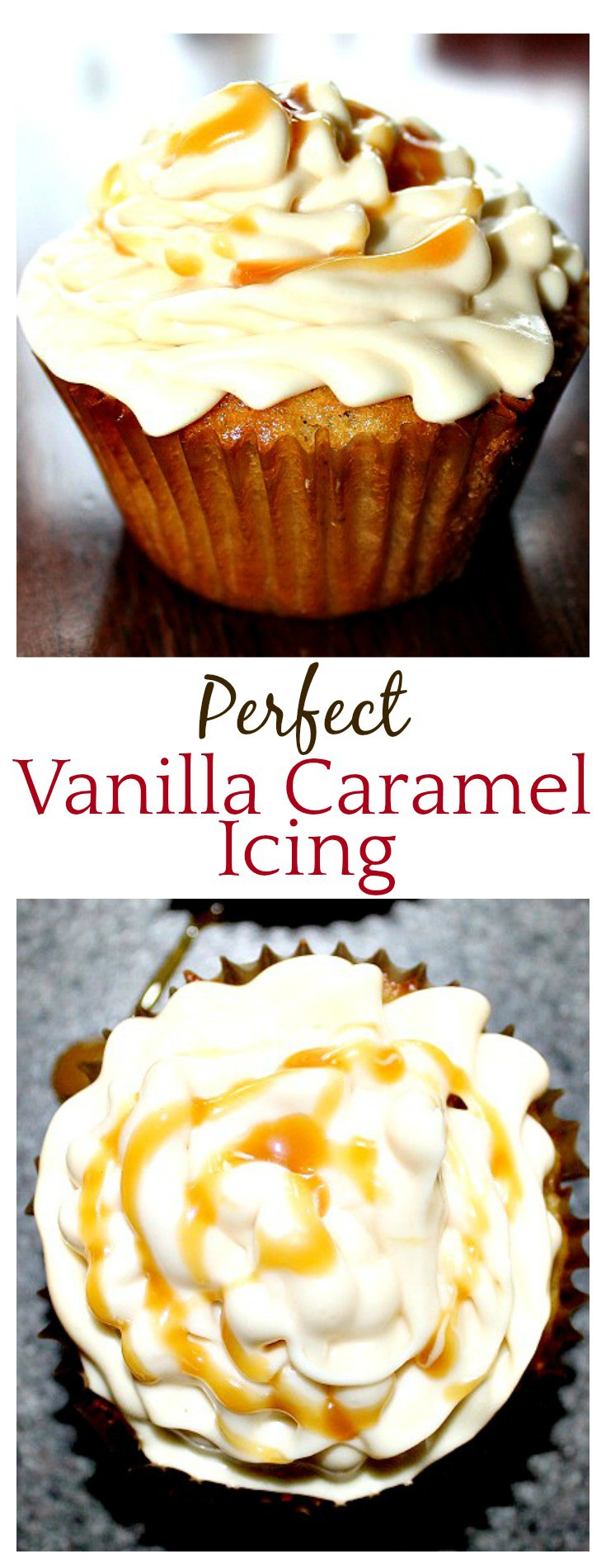 Oh my...Perfect Vanilla Caramel Icing - the title says it all! This was so easy to make (using an easy-to-fine ice cream topping!) and everyone loved it!