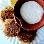 Lemon Garlic Shrimp Cakes with Roasted Garlic Aioli Plating 3