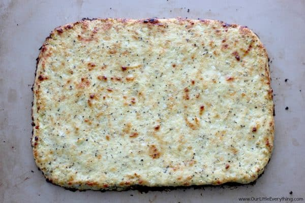 Cheesy Cauliflower Pizza Crust
