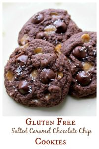 Gluten Free Salted Caramel Chocolate Chip Cookies
