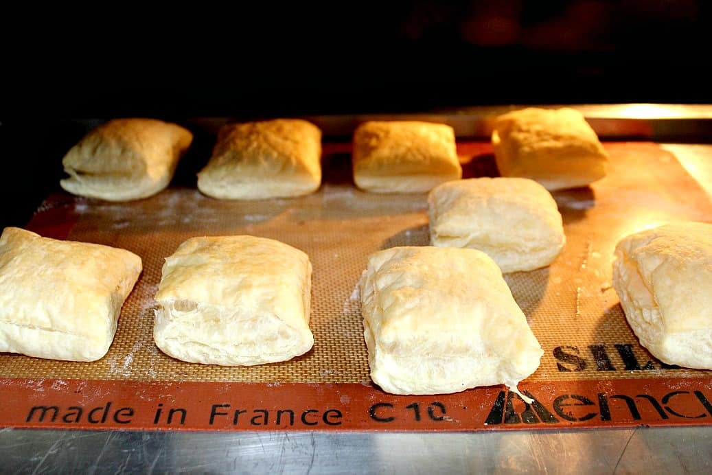 Puff Pastry squares Cooking in the Oven