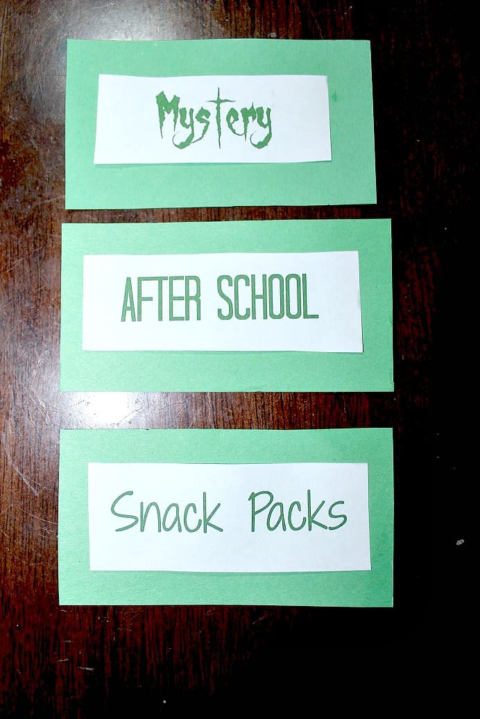 Mystery After School Snack Packs