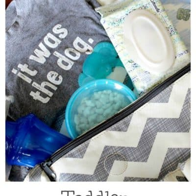 Toddler Diaper Bag Necessities
