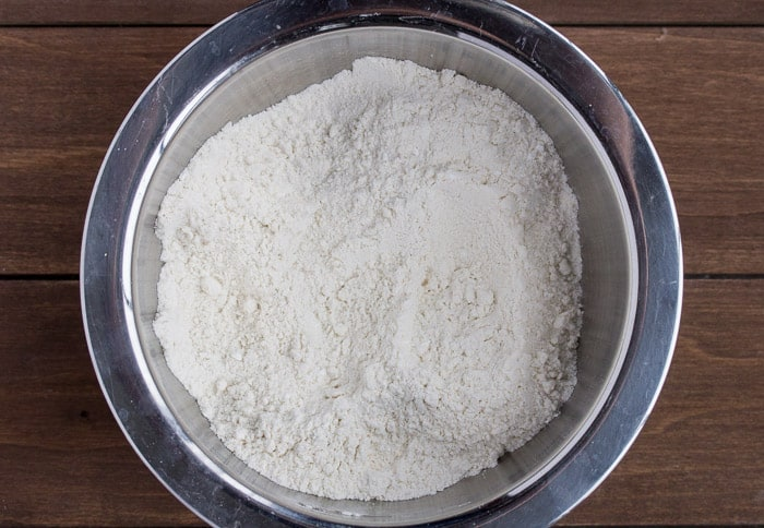 Dry Ingredients in a Silver Bowl