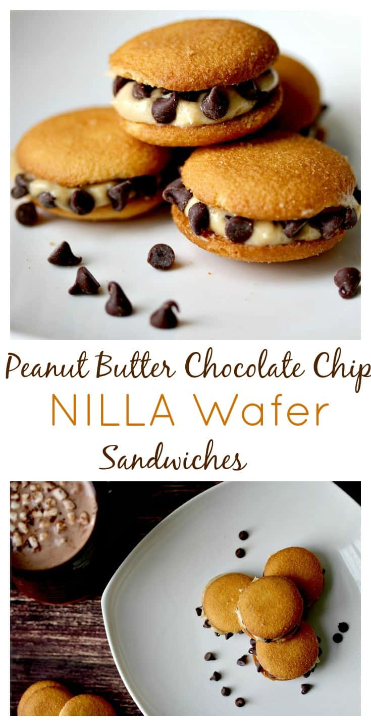 Peanut Butter Chocolate Chip NILLA Wafer Sandwiches