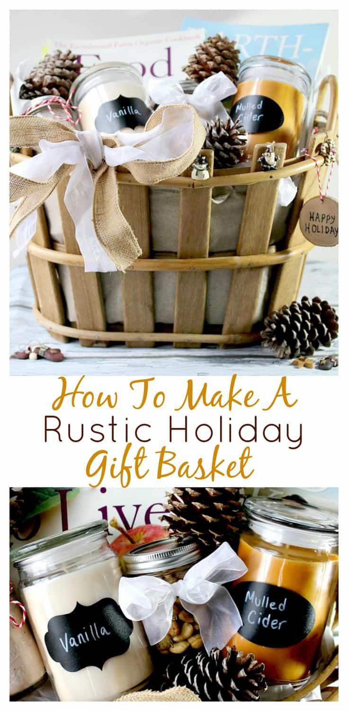 Rustic Holiday Gift Basket